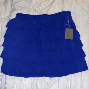 Ruffle dark blue skirt